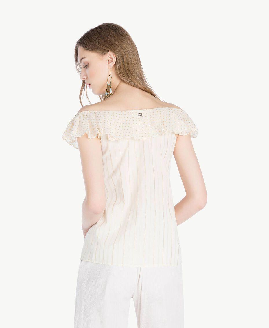 Jacquard blouse Two-tone Mid Melange Grey / Light Gold Woman TS8263-03