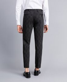Anzug mit Print Grau melierter Karoprint Mann UA82BN-06