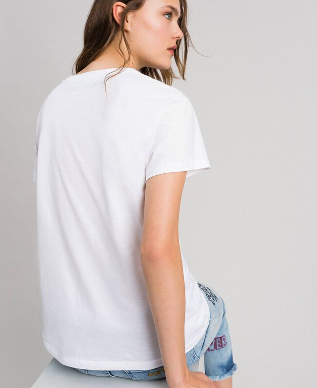 Logo T-shirt with multi-colour print Lily Woman 192MP2442-03