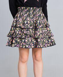 Printed viscose full skirt Micro Flower Print Child GA82TA-04