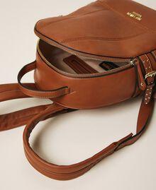 Rucksack aus Lederimitat mit Riemchen Leder Frau 202MA7042-05