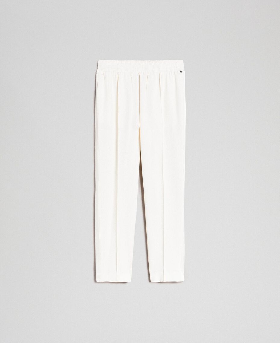 Pantalon en cady Blanc Neige Femme 192TT2292-0S