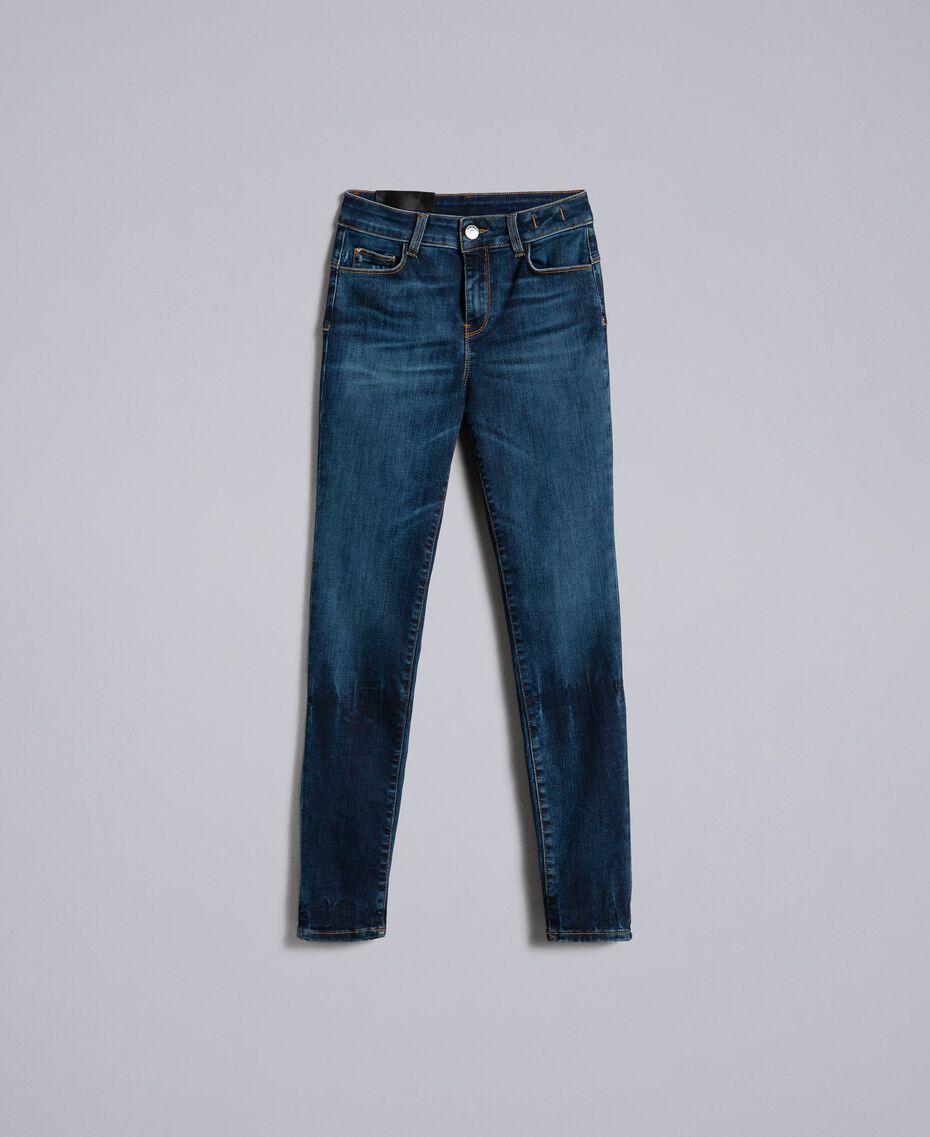 Jean skinny en denim stretch Bleu Denim Femme JA82Q9-0S
