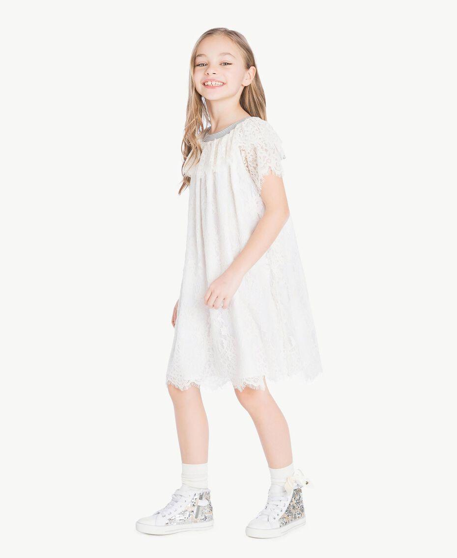 Bow socks Pale Cream Child GS8ACA-05
