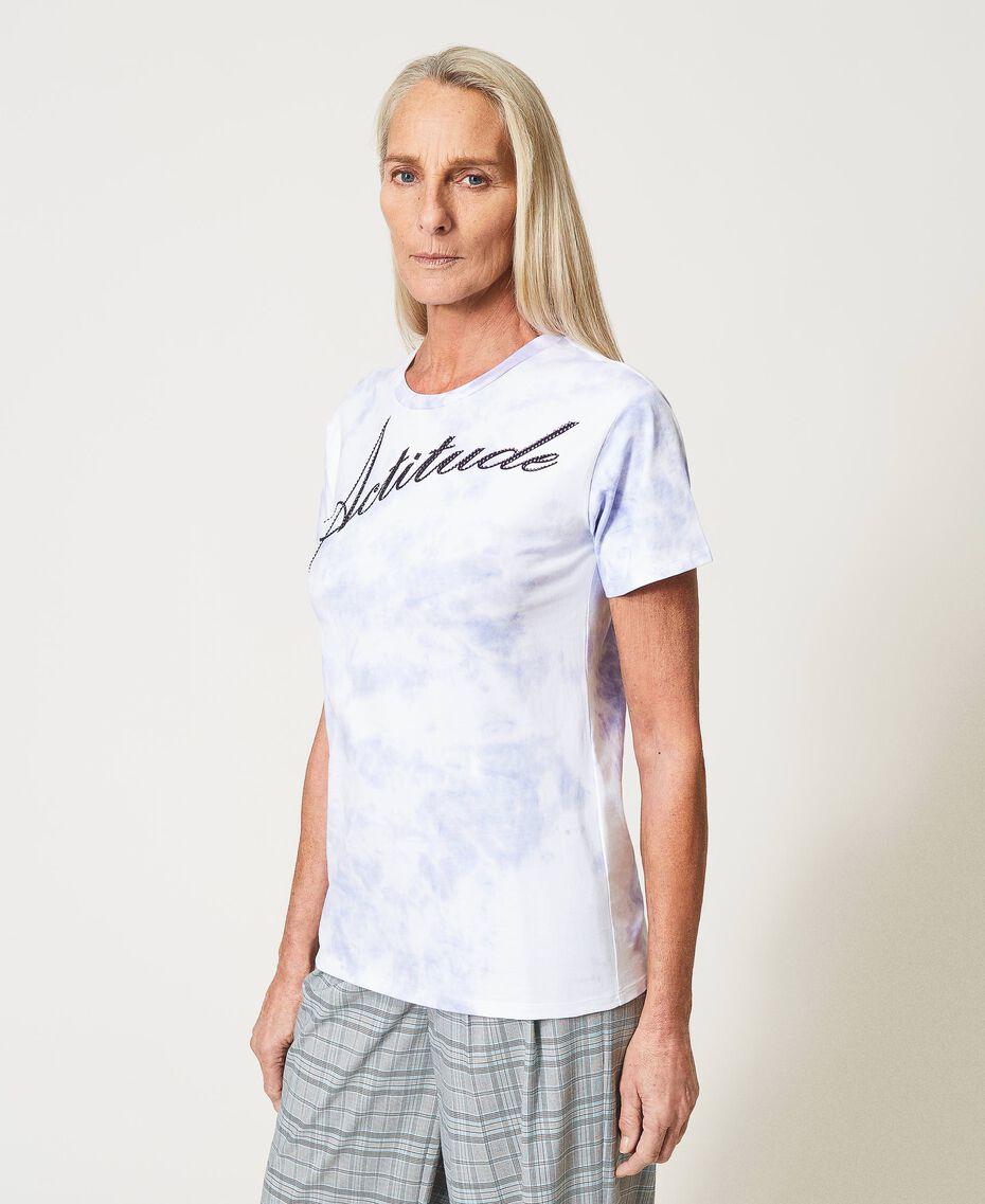 "Regular tie-dye t-shirt ""Lilac Sky"" Purple Woman 211MT2630-02"
