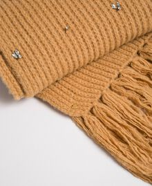 Bezel and fringe scarf Camel Woman 192TO5361-02