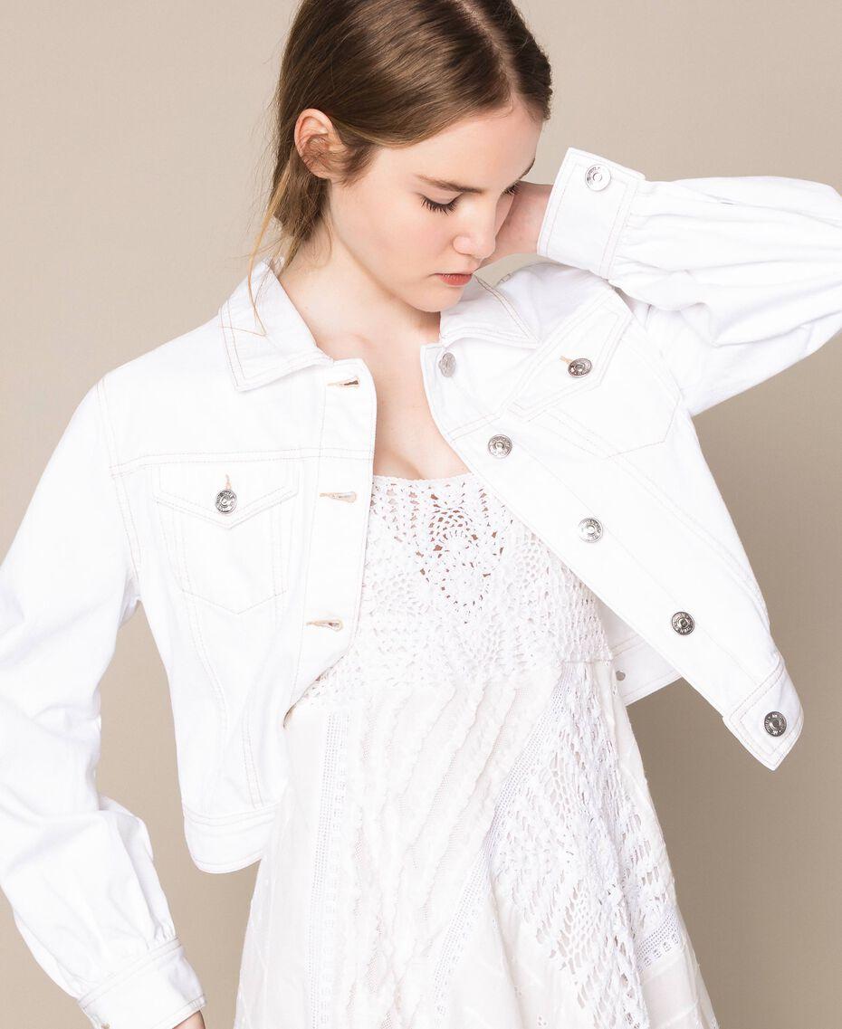 """Blouson en jean blanc Blanc """"Ice"""" Femme 201MT2230-01"""