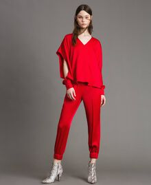 "Drawstring jogging trousers ""Ruby"" Red Woman 191TP2692-01"
