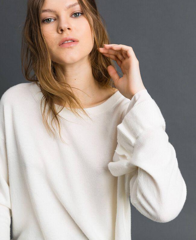 Pull en laine et cachemire Blanc Neige Femme 192TP3214-04
