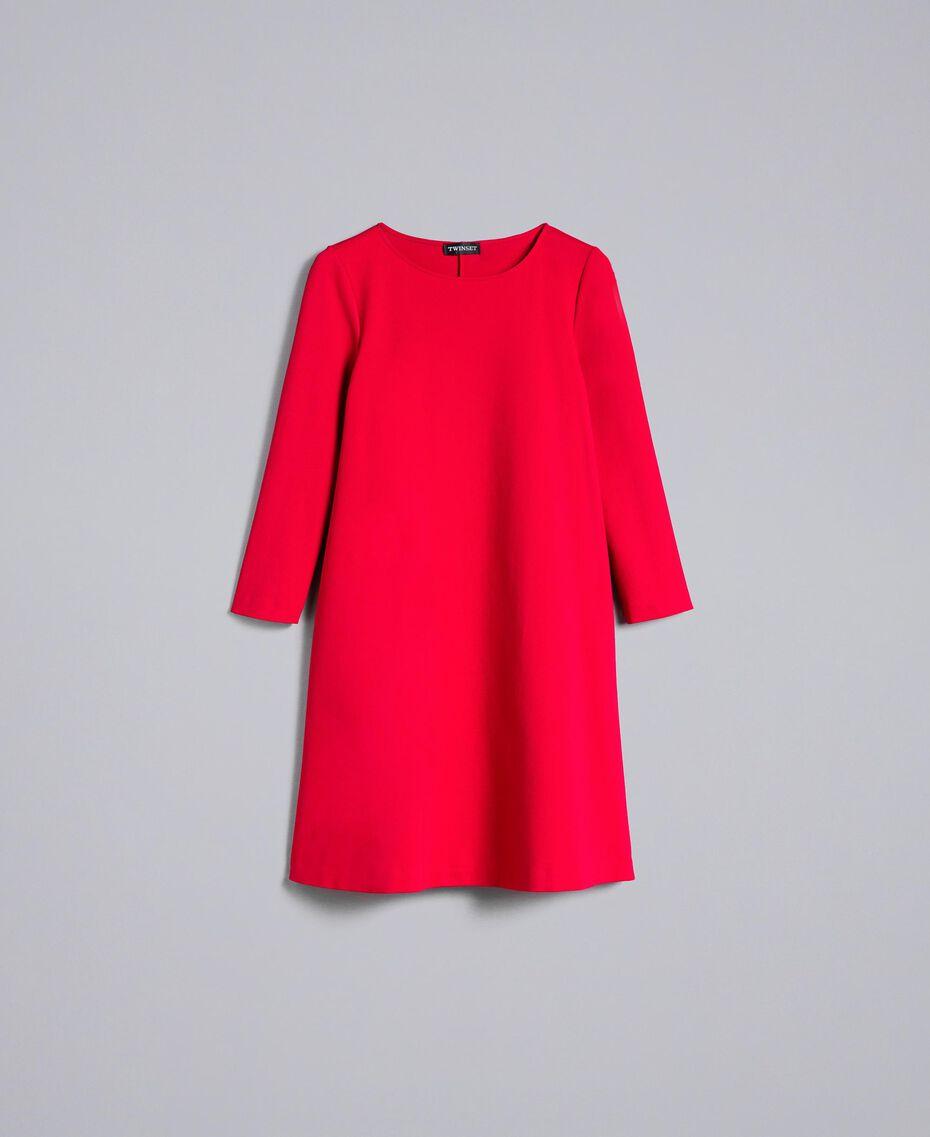 A-Linien-Kleid aus Interlock-Jersey Venedigrot Frau PA821U-0S