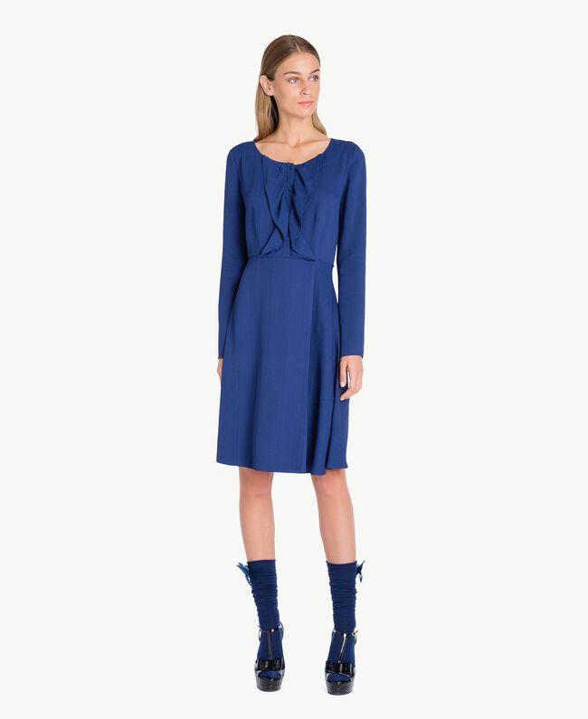 TWINSET Sandalo vernice Blue Black CA7PLW-04