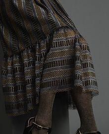 Robe mi-longue en dentelle lurex Noir Femme 192TT2361-05