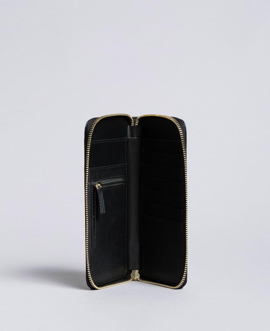 Geldbörse aus Lederimitat Schwarz Frau VA8PA5-02