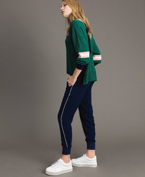 Georgette jogging trousers