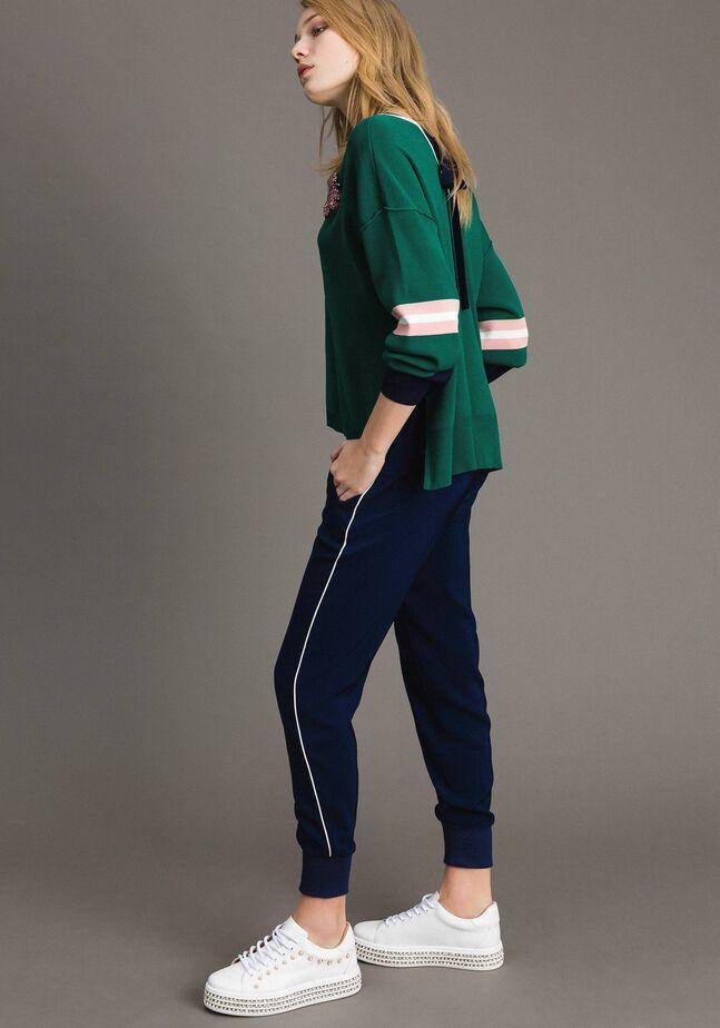 Pantalon de jogging en georgette