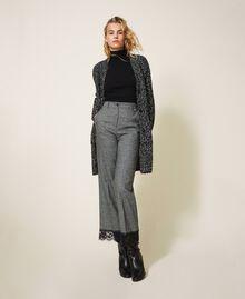 Tweed knit maxi cardigan Magenta Pink Woman 202LI3PFF-01