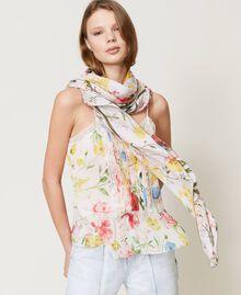 Floral kefiah Meadow Flower Print Woman 211TO5047-0S
