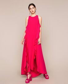 Long dress with frills Black Cherry Woman 201TP2434-03