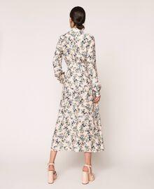 "Long floral shirt dress ""Quartz"" Pink Flowered Print Woman 201MP2371-03"