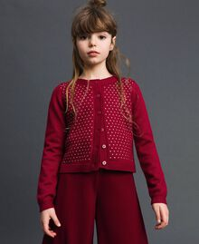 Cardigan mit Allovernieten Ruby Wine Rot Kind 192GJ3093-01