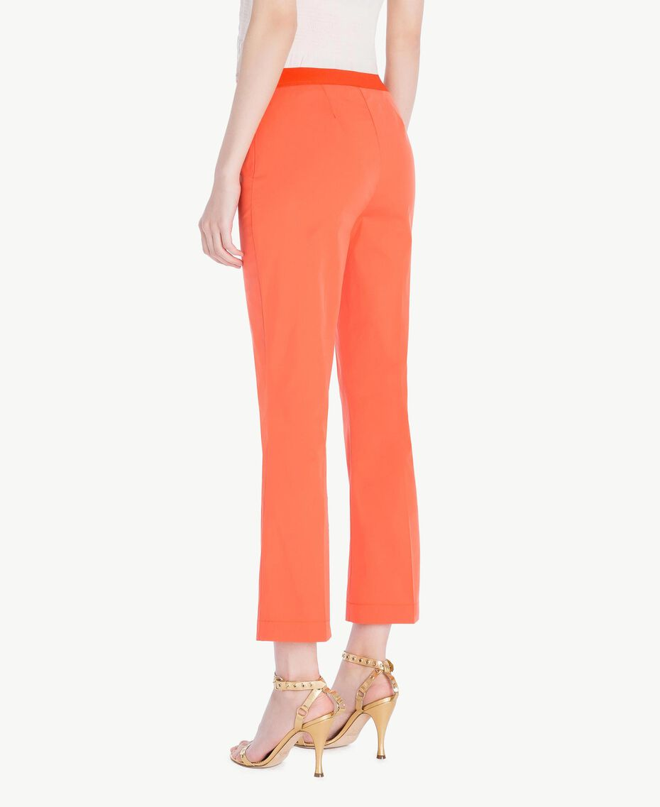 Poplin flared trousers Orange Woman TS8212-03