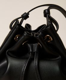 Bucket bag with logo Black Woman 212TB7092-03