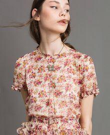 Collier avec papillon et pendentifs Cristal Femme 191TA4314-0S