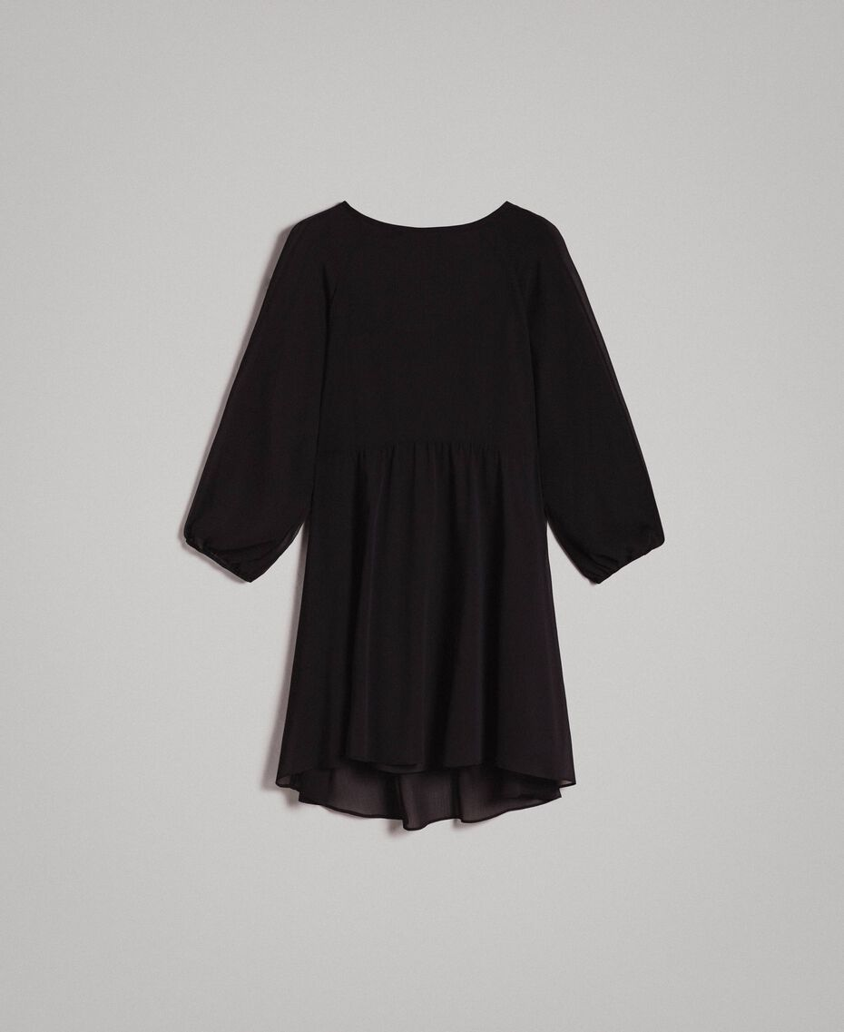 Crepon and georgette dress Ecrù Woman 191ST2207-0S