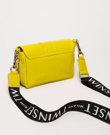 Small Rebel bag with logo shoulder strap Lime Yellow Woman 201TO823U-04