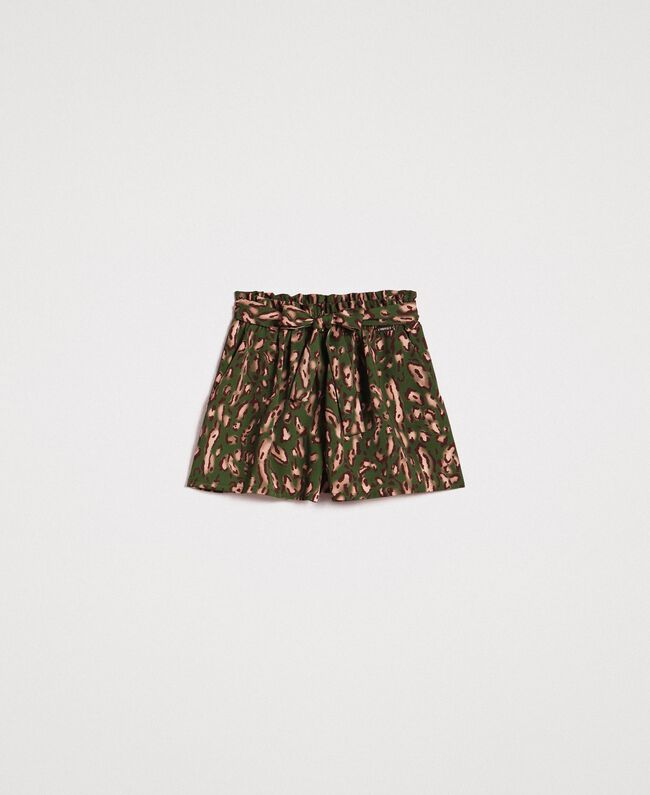 Animal print shorts Amazon Green Animal Print Woman 191LM2UJJ-0S