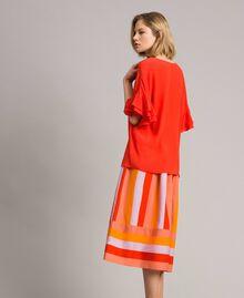 Blusa in misto seta Rosso Granatina Donna 191TT2075-03