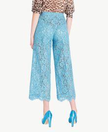 Pantacourt dentelle Bleu d'Orient Femme PS82XC-03