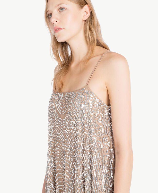 All over sequin dress Dark Silver Woman TS82EA-05