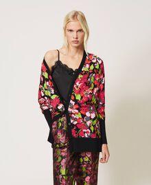 Maxi cardigan floral Imprimé Fleur Fuchsia Femme 202TP3503-01