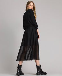 Tulle mid-length skirt Black Woman 191MP2130-01