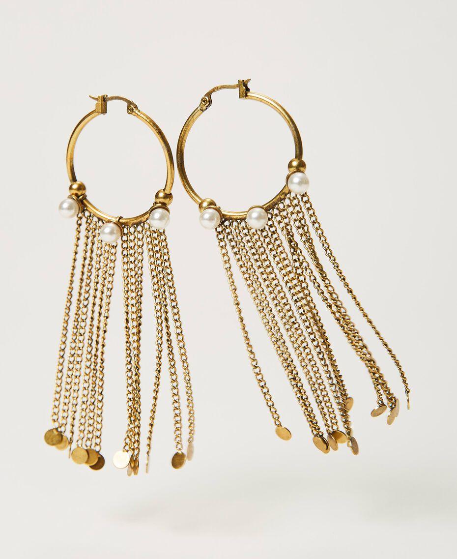 Boucles d'oreilles avec franges Or «Laiton Vieilli Cuivré» Femme 211TO501E-01