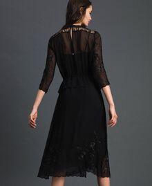 Длинное платье из жоржета с вышивками Черный женщина 192TP2340-05