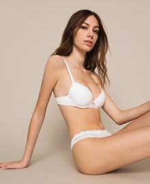 Push-up in pizzo Avorio Donna 201LL6144-01