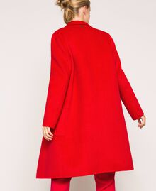 "Mantel aus doppellagigem Tuch ""Lava""-Rot Frau 201TP242A-03"