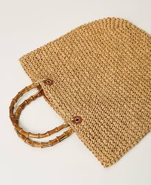 Weaved raffia shopper Straw Woman 211TD8240-04
