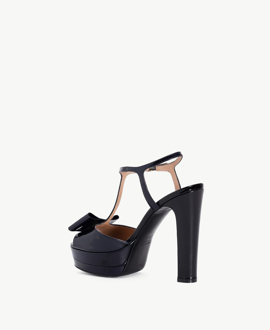 TWINSET Sandalo vernice Blue Black CA7PLW-03