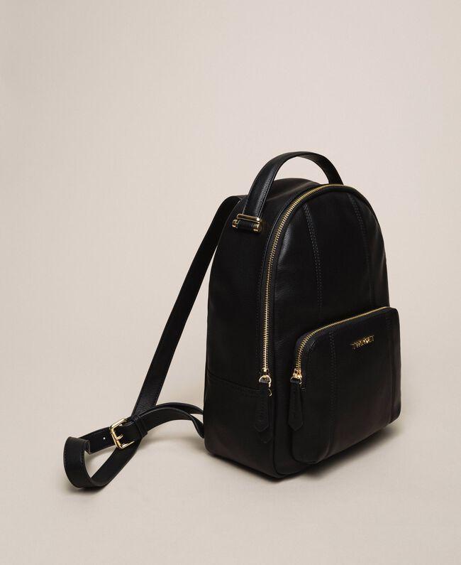 Рюкзак из искусственной кожи с карманом Черный женщина 201TA7163-01