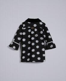 Manteau en drap à pois Imprimé Pois Noir / Blanc Cassé Enfant FA82CA-0S