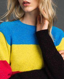 Pull color block en mélange de laine et lurex Tweed Lurex Femme 192MT3170-04