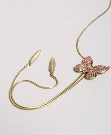 "Necklace with butterfly and charms ""Wild Rose"" Pink Woman 191TA4314-02"