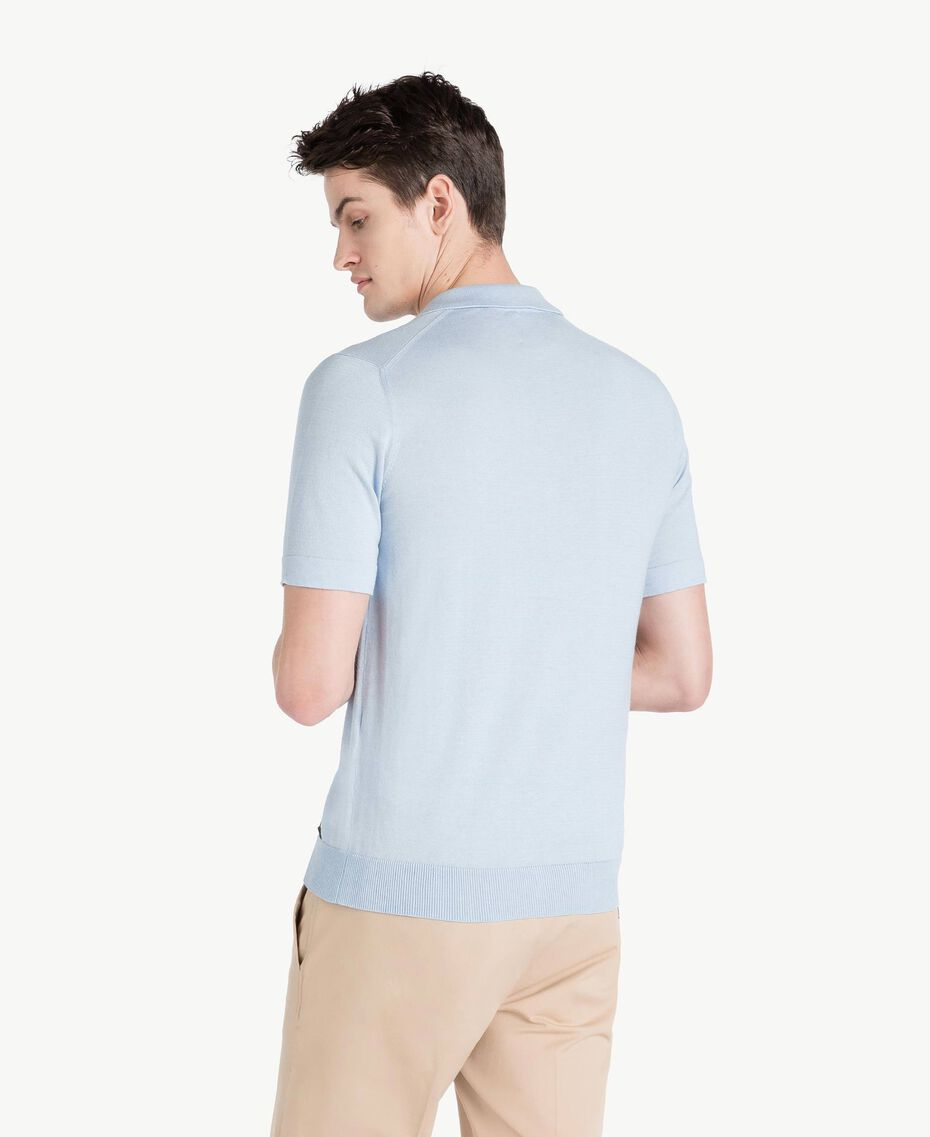 Cotton and cashmere jumper Ice Blue Man US831C-03