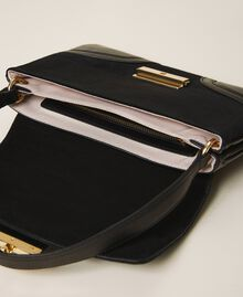 Smooth leather and suede bag Black Woman 202TB7281-05