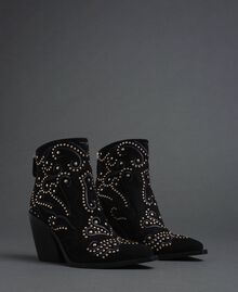 Studded ankle boots Black Woman 192MCP016-01
