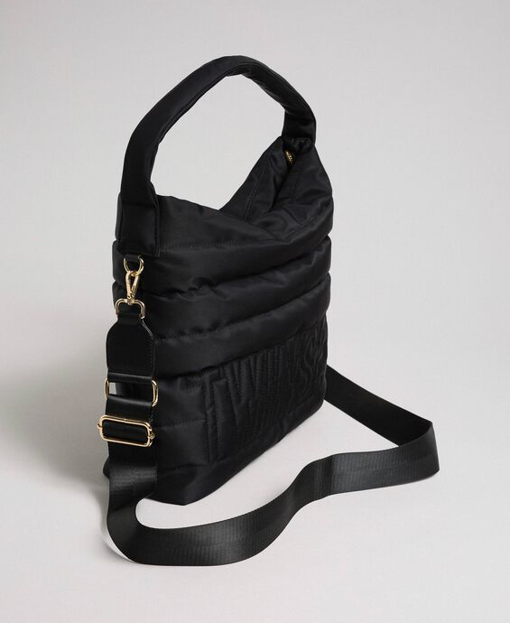 Padded hobo bag with shoulder strap