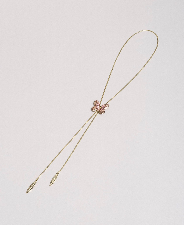 """Collier avec papillon et pendentifs Rose """"Églantine"""" Femme 191TA4314-01"""